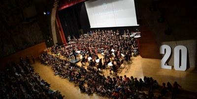 Espectacular concert per celebrar els 20 anys de l'Escola