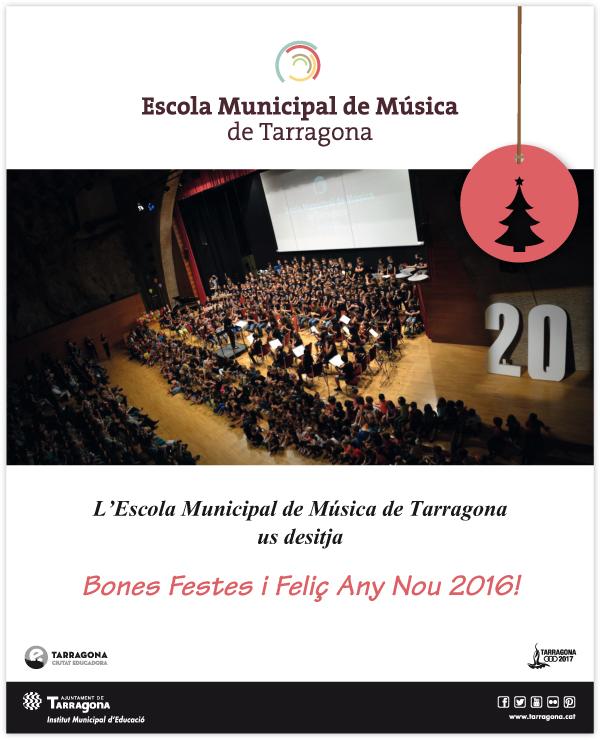 L'Escola Municipal de Música us desitja Bon Nadal!