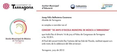 Uns 450 alumnes participen demà al concert dels 20 anys de l'Escola Municipal de Música