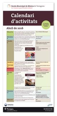 Activitats del mes d'abril