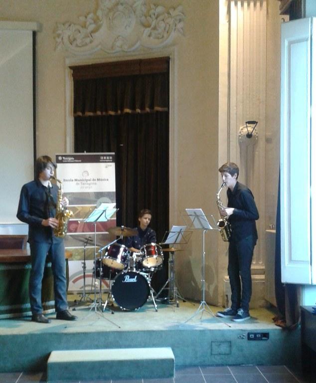 """Actuació del """"Rax Trio"""" a l'acte de lliurament dels Premis IMET"""