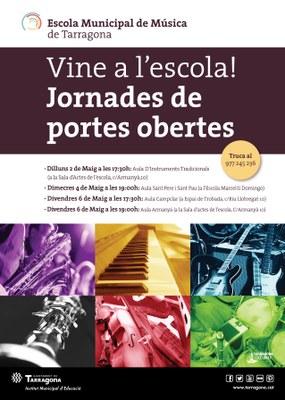 Jornades de Portes Obertes a l'Escola Municipal de Música de Tarragona