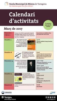 Activitats del mes de MARÇ de l'EMMT