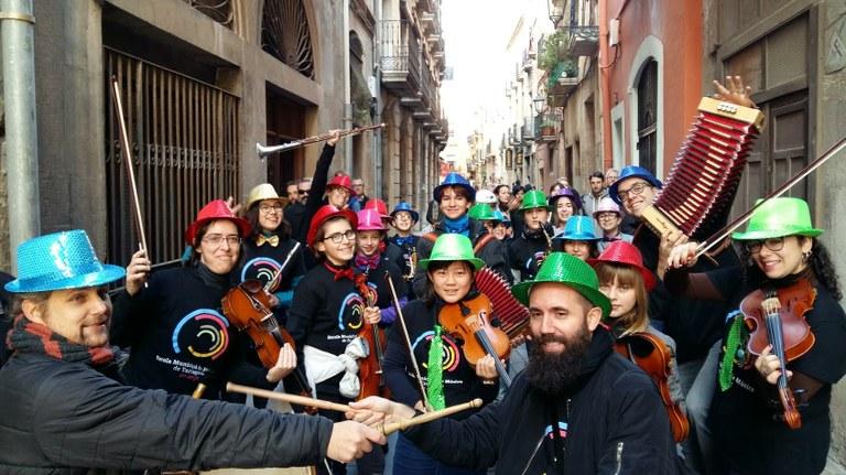 Participació de l'Escola Municipal de Música en la rebuda de l'Home dels Nassos