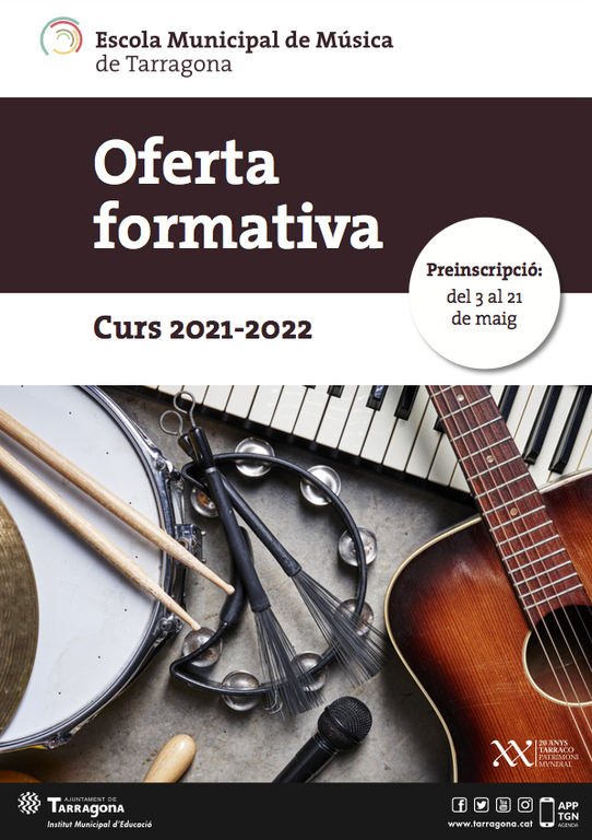 S'inicia la preinscripció a l'Escola de Música de Tarragona