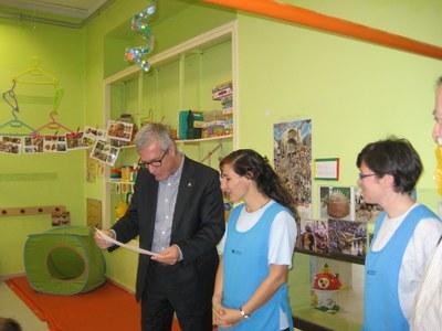 """L'alcalde defensa """"l'aposta de l'Ajuntament per la qualitat educativa de les llars d'infants municipals"""""""