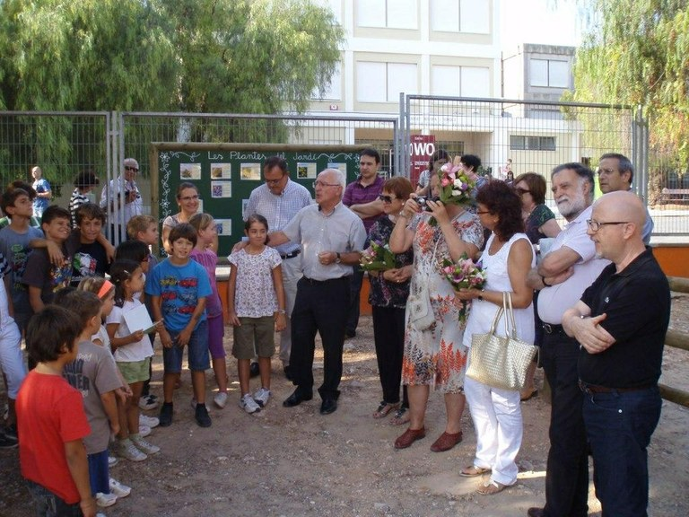 """S'inaugura el jardí romà """"Ana Dols"""" a l'Escola de Pràctiques"""