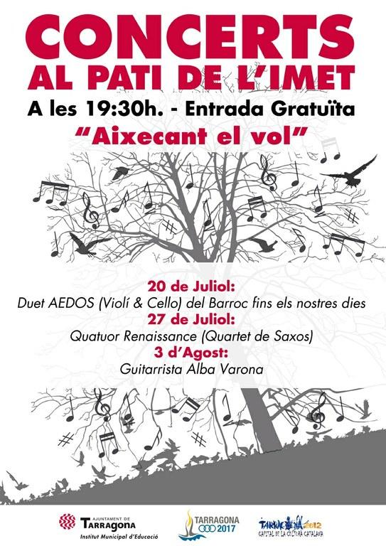 Concerts al pati de l'IMET