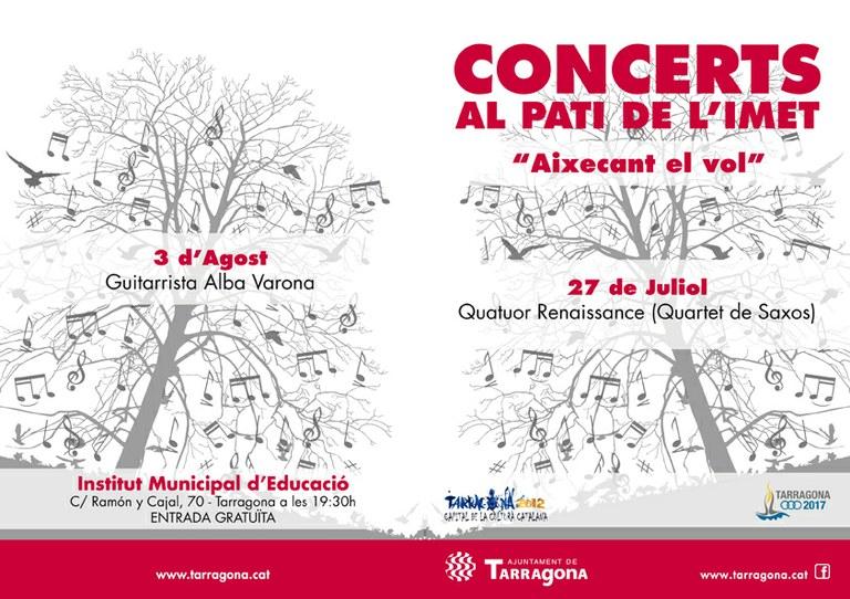 """El quartet de saxos """"Quator Renaissance"""" actuarà el divendres 27 de juliol al pati de l'IMET"""