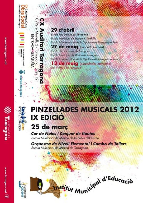 "Tercer concert de les ""Pinzellades Musicals 2012"""
