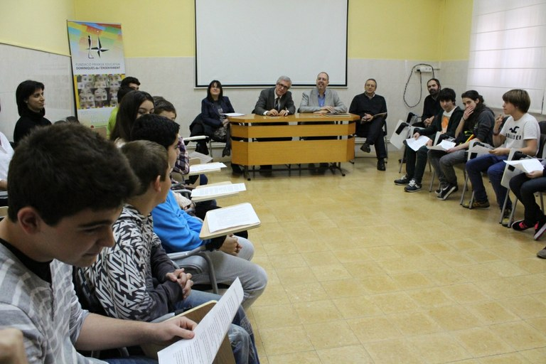 L'alcalde visita el Col·legi Sant Domènec de Guzman