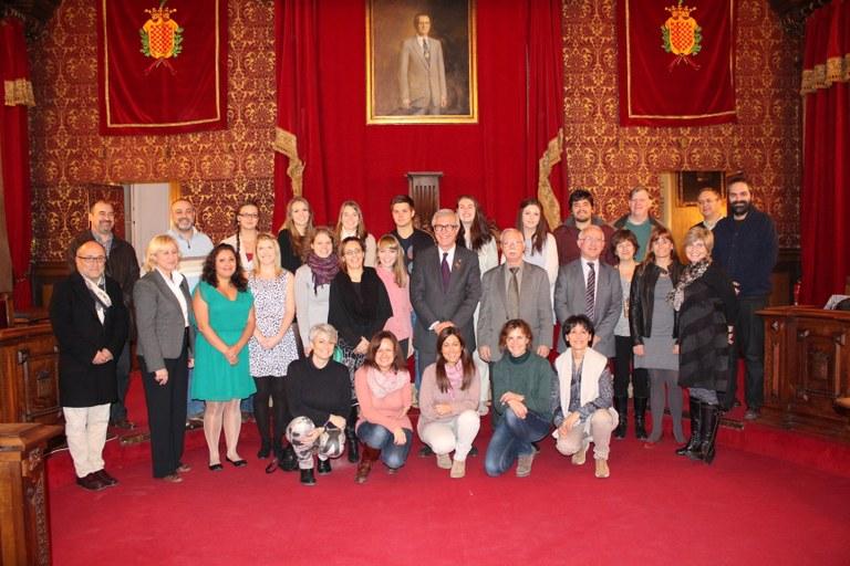 L'Alcalde rep als alumnes Erasmus participant en el projecte Smile als instituts d'ESO de la ciutat