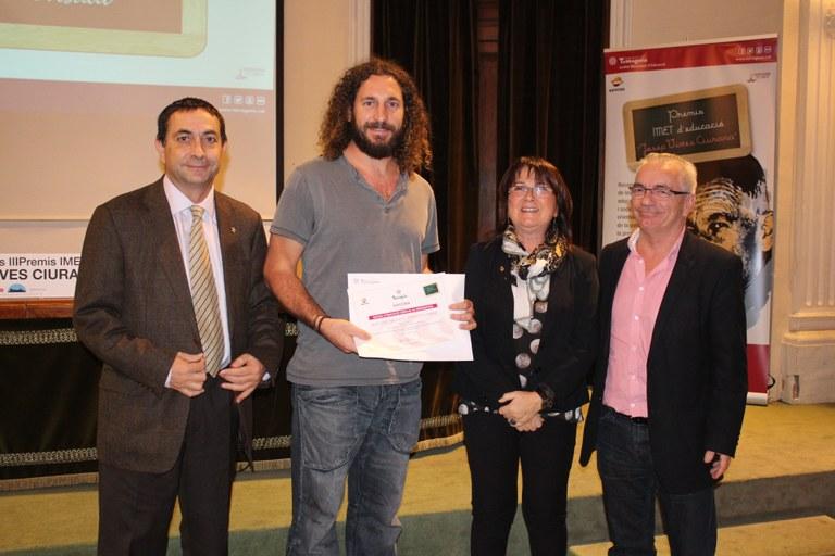 Lliurament dels III Premis IMET d'Educació Josep Vives i Ciurana del curs 2013-2014