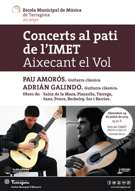 Concert de Pau Amorós i Adrian Galindo