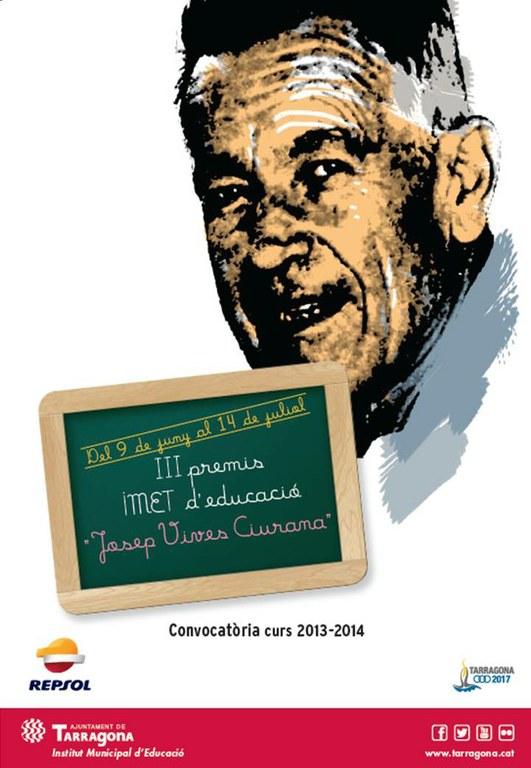 """Divendres  21 de novembre es lliuren els Premis IMET d'educació """"Josep Vives i Ciurana"""""""