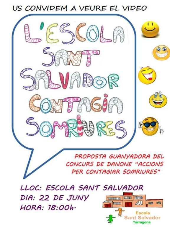 """L'escola Sant Salvador guanya el concurs """"Contagiem Somriures"""""""