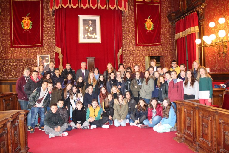 Visita d'estudiants berlinesos a l'Ajuntament