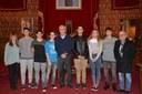 L'alcalde rep als alumnes de l'IES Sant Pere i Sant Pau guanyadors del concurs Mediterraneamos