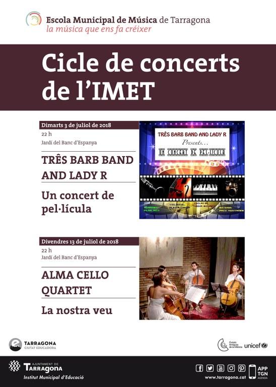 Três Barb Band and Lady R enceten els concerts de l'estiu de l'IMET