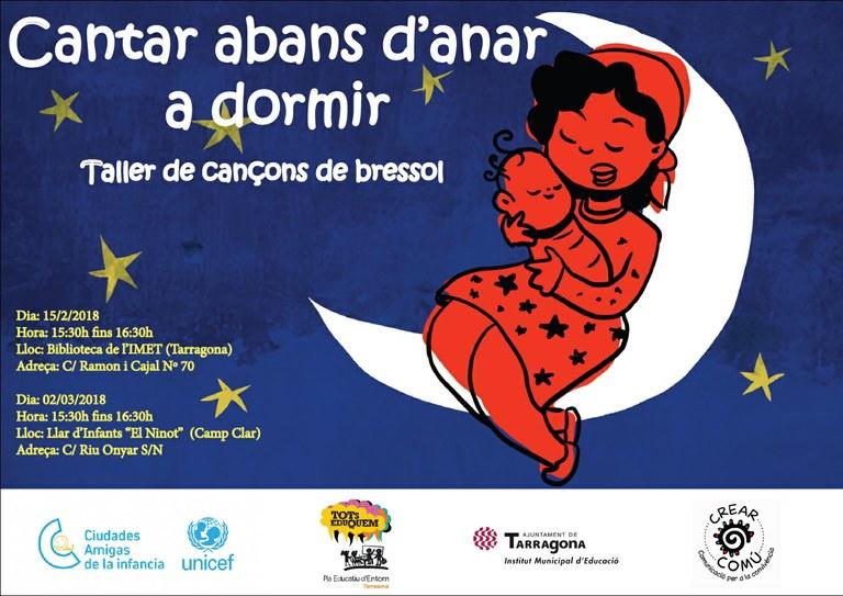 L'IMET organitza el taller de cançons de bressol 'Cantar abans d'anar a dormir'