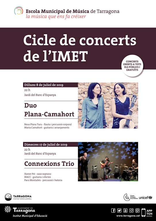 El cicle de concerts de l'Escola Municipal de Música torna als jardins del Banc d'Espanya