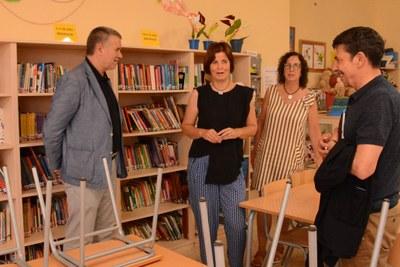 L'alcalde Ricomà visita quatre escoles de la ciutat