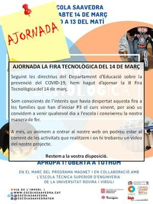 Ajornada la Fira Tecnològica de l'Escola Saavedra.