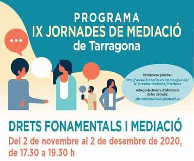 L'IMET coordina les IX Jornades de Mediació