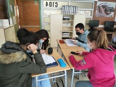 Els alumnes de l'IES Vidal i Barraquer presenten el treball escollit per al projecte Fòrum Tàrraco Client