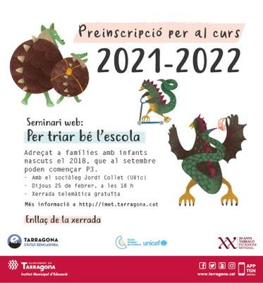 L'Ajuntament de Tarragona organitza una xerrada per ajudar als pares a escollir escola