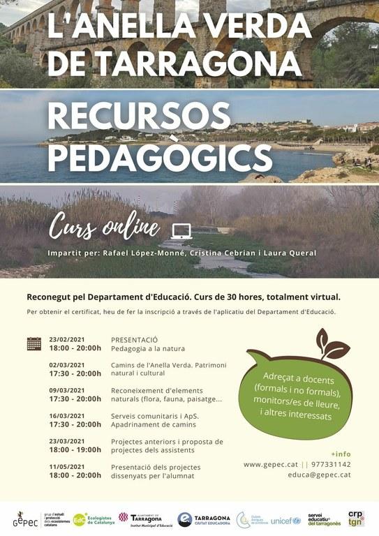 L'Institut Municipal d'Educació de Tarragona impulsa un curs per donar a conèixer els recursos pedagògics de l'Anella Verda