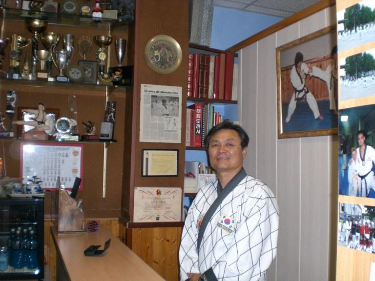 Recepció al mestre de taekwondo Cha
