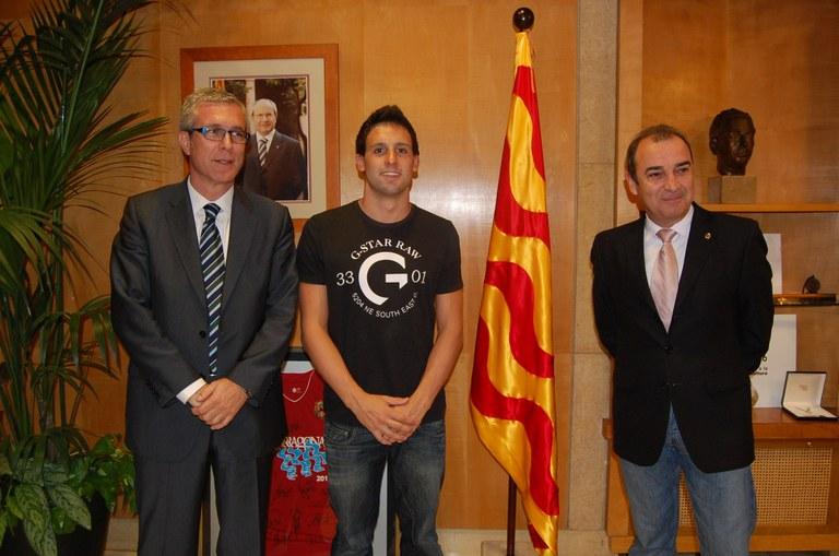 Reconeixement al nedador tarragoní Eduard Galdeano