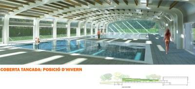 Comencen les obres de la coberta de la piscina de Sant Salvador