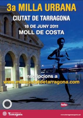 El proper 18 de juny, el Moll de Costa acollirà al 3a Milla Urbana Ciutat de Tarragona