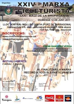 El proper diumenge 12 de juny tindrà lloc la XXIV Marxa Cicleturista de Sant Magí
