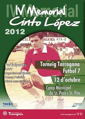 Dimecres 10 d'octubre es farà el sorteig del IV Memorial Cinto López