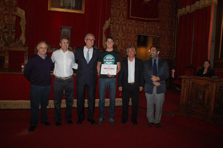 L'Alcade de Tarragona rep al Club Ciclista Camp Clar