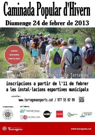 """El Patronat Municipal d'Esports organitza la primera caminada de l'any 2013, la """"Caminada Popular d'Hivern"""""""