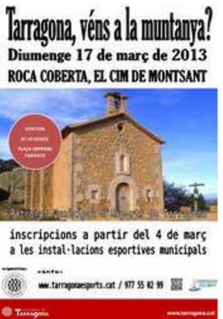 El proper diumenge 17 de març es farà una sortida a la Roca Corbatera, sostre del Montsant