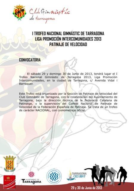 La ciutat acull el I Trofeu Nacional de patinatge de velocitat Gimnàstic de Tarragona i Interlliga