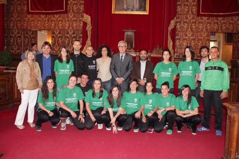 L'Ajuntament de Tarragona ofereix una recepció a l'equip femení de futbol de Campclar