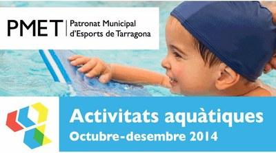 Comencen les preinscripcions a les activitats aquàtiques d'octubre-desembre 2014