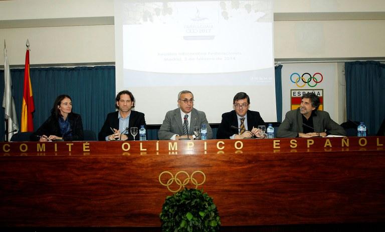 Les Federacions Esportives Espanyoles treballaran conjuntament amb Tarragona 2017
