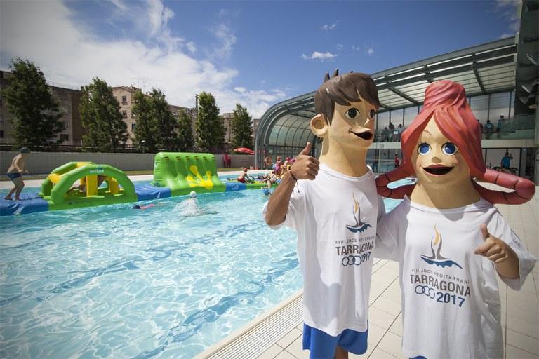 Unes 2.500 persones participen en la Festa de l'Esport per celebrar que falten 3 anys per l'inici dels Jocs Mediterranis