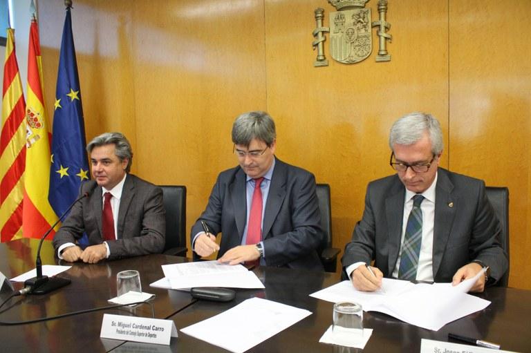El Consejo Superior de Deportes i l'Ajuntament de Tarragona signen un conveni de col·laboració per a la celebració dels Jocs Mediterranis