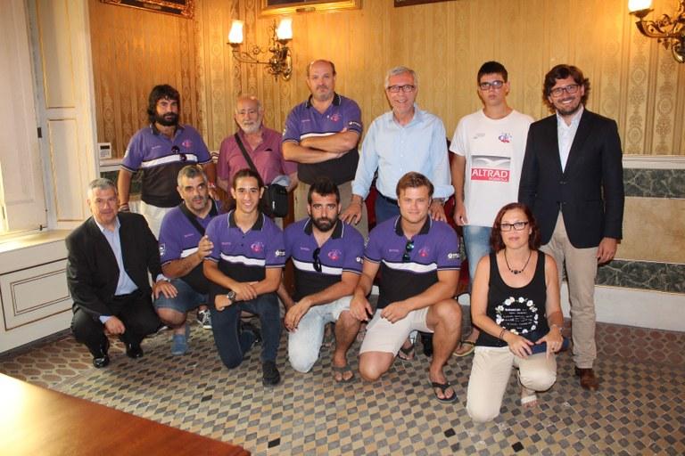 L'alcalde felicita al Club de Rugby Tarragona per haver-se proclamat campió de la Primera Divisió Catalana