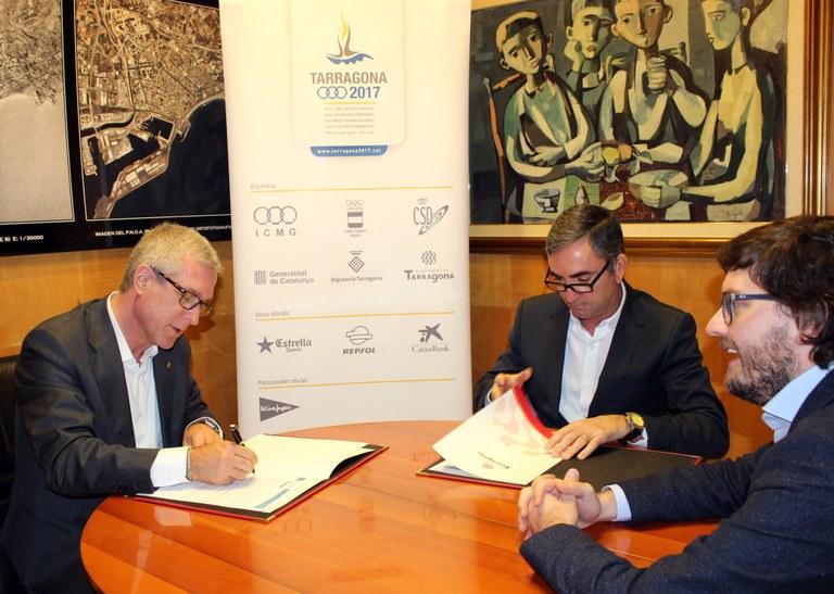 La Fundació Tarragona 2017 i Marina Port Tarraco signen un conveni de col·laboració