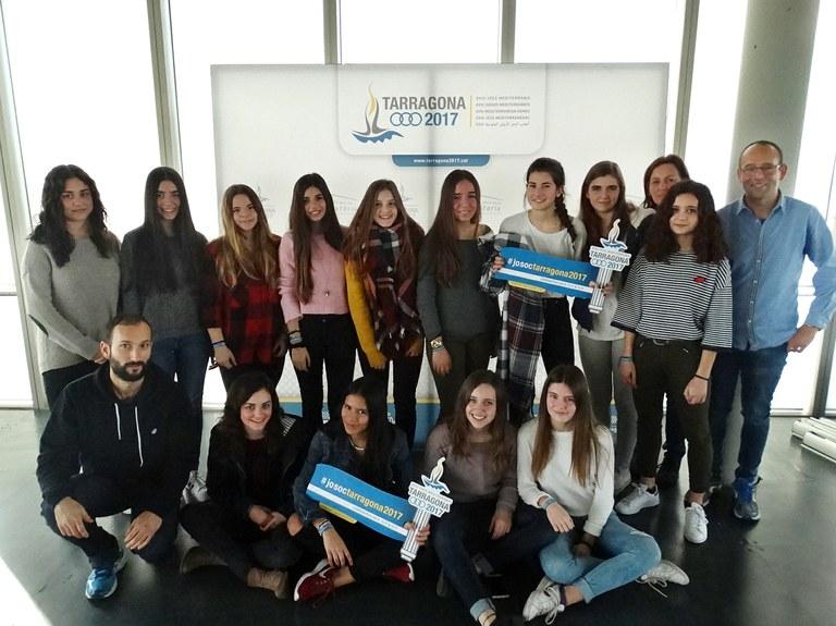 La primera escola guanyadora del concurs de secundària sobre el llegat dels Jocs Mediterranis presenta els seus projectes