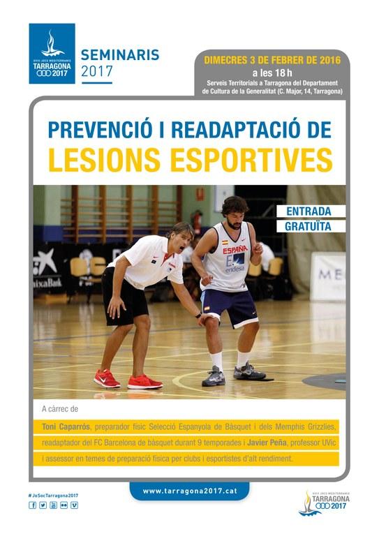 L'assessor esportiu dels Memphis Grizzlies i preparador físic de la selecció espanyola de bàsquet imparteix un Seminari 2017